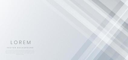 Abstract white and grey geometric diagonal overlay layer background. vector