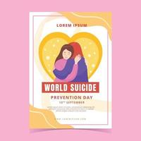 World Suicide Prevention Day Poster vector