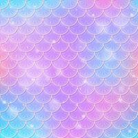 fantasía sirena escalas de patrones sin fisuras vector
