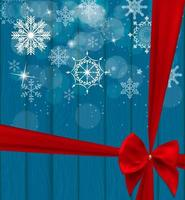 Abstract Beauty Christmas and New Year Background with Bow Ribbon. Vector Illustration