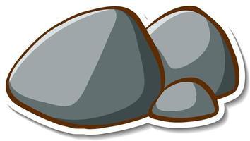 Rock stone sticker on white background vector