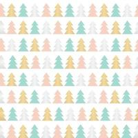 Abstract Beauty Christmas Tree and Seamless Pattern. New Year  Background. Vector Illustration