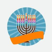 Abstract Background Happy Hanukkah, Jewish Holiday. vector
