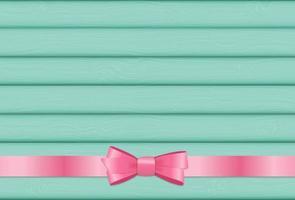 cinta rosa y lazo sobre fondo de madera para cumpleaños cristo vector