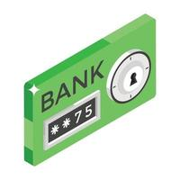 Bank Locker Concepts vector