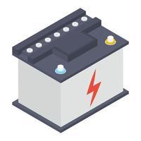 conceptos de batería de potencia vector