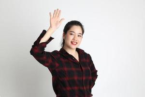 mujer en estudio foto