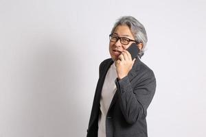 hombre asiático senior foto