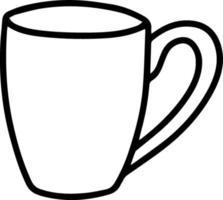 taza en estilo doodle vector