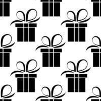 seamless pattern of gift box vector