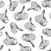 garlic seamless pattern. vector illustration
