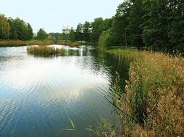 Lake in the park at Lilla Holmen Mariehamn Aland Finland photo