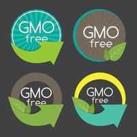 Gmo Free Label Set Vector Illustration