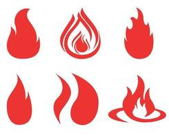 torch fire red Collection sign abstract illustration design on a Background white vector