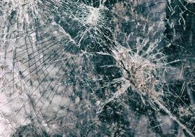 Imagen abstracta de textura de vidrio roto foto