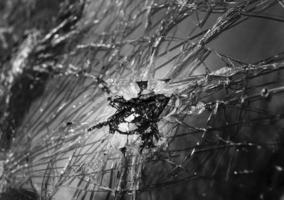 Abstract image of broken glass texture photo