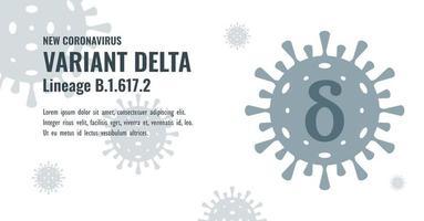 New Coronavirus or SARS-CoV-2 Variant Delta B.1.617.2 Illustration vector