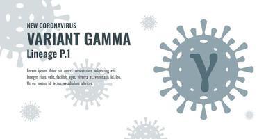 New Coronavirus or SARS-CoV-2 Variant Gamma P.1 Illustration vector