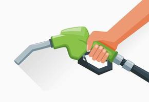 Fuel Nozzle Pump In Hand vector
