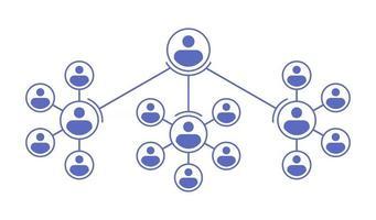 Company Organization Hierarchy Chart vector