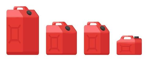 Red Plastic Jerry Cans vector