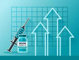 Covid-19 Vaccine Price Up vector
