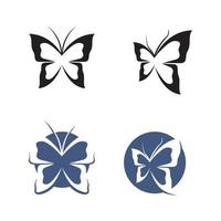 Vector Butterfly conceptual simple colorful icon Logo Vector Animal Insect