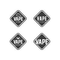 vape and vapor logo icon smoke vector and set design for vapers vaping device and lifestyle modern smoking