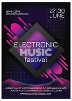 music festival poster for party vector