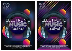 music festival electro music poster for party vector