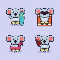 Summer koala design vector