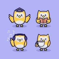 Cute owl design vector