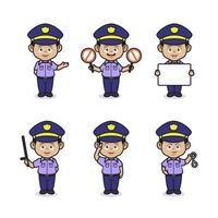 Cute police design vector