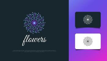 Luxurious Nature Floral Leaf Ornament Logo, Suitable for Spa, Beauty, Resort, or Cosmetic Product Brand Identity. Colorful Mandala Logo vector