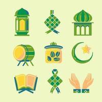 Set Of  Colorful Icon for Moslem Festival vector
