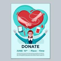 World Blood Donor Day Poster vector