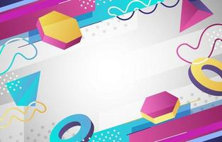 Abstract Geometric with 3d Shape Background vector