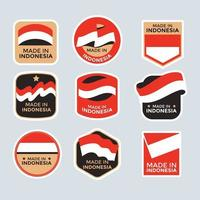 Made in Indonesia Set of Labels vector