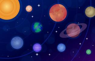 Space Background with Planets vector