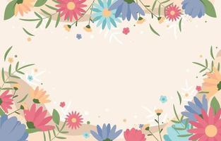 Blooming Flower Background vector