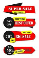 Color set of sale tags, isolated on white background vector