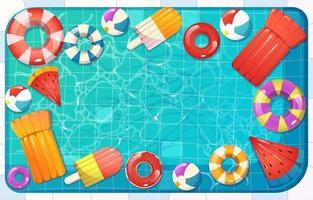 Top Swimming Pool Summer vector