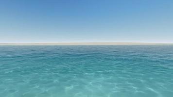 playa tropical mar azul claro 4k video
