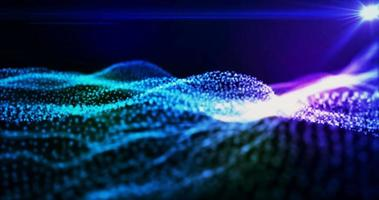 Abstract wave of particles seamlessly looping video