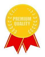 Gold Label Premium Quality. Vector Illustration