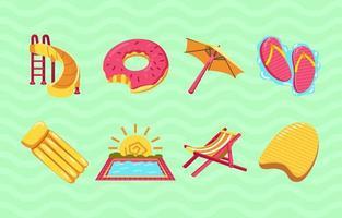 Swim Theme Icons vector