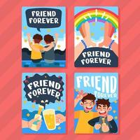 Forever Friend Cards vector