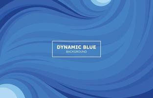 Dynamic Shapes Blue Background vector