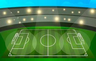Stadium Soccer Background vector