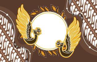 Indonesian Batik Background vector